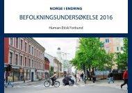 BEFOLKNINGSUNDERSØKELSE 2016