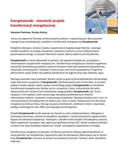 Energiewende - niemiecki projekt transformacji energetycznej