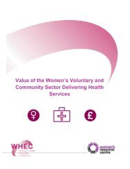 Value of the Women's Voluntary and Community Sector Delivering Health Services