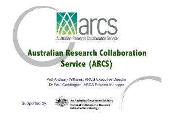 Australian Research Collaboration Service (ARCS) - eResearch SA