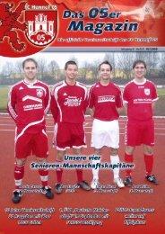 FC Hennef 05-Ausgabe 08:05er-Magazin Nr.8 - beim FC Hennef 05