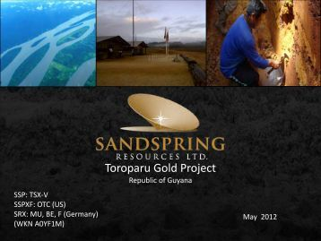 exploration team - Sandspring Resources Ltd.