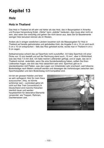 Bauen in Thailand - Hausbau - Holz Holzbau Holzarten - Easythailand