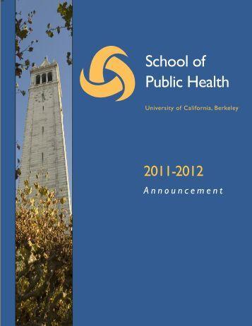 Viewbook - School of Public Health - University of California, Berkeley
