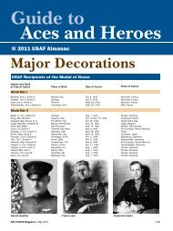 Guide to Aces and Heroes - Air Force Magazine