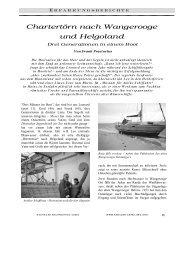 Chartertörn nach Wangerooge und Helgoland - Frank Praetorius