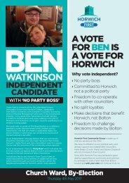 Ben Watkinson - Horwich First Independent