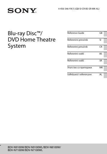 Sony BDV-N7100WL - BDV-N7100WL Guide de référence Serbe
