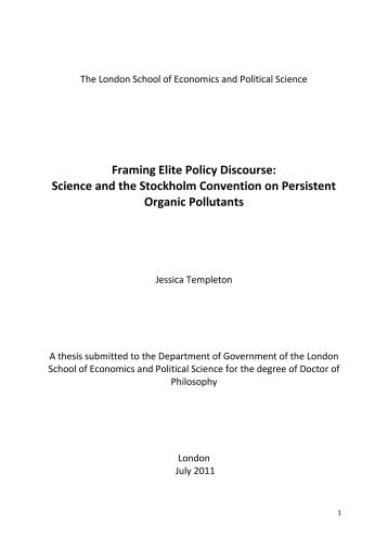 Framing Elite Policy Discourse - LSE Theses Online - London ...