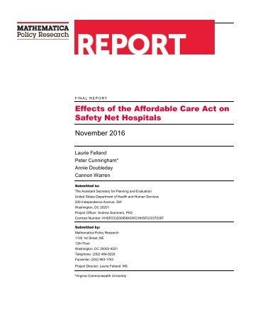 Safety Net Hospitals