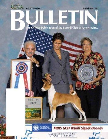 Bulletin - the Basenji Club of America