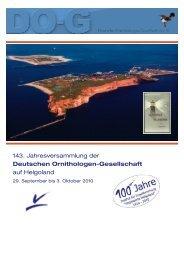 143. Jahresversammlung der Deutschen Ornithologen ... - DO-G