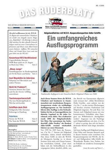 Partner der WDR im Profil: Die AG Reederei Norden-Frisia
