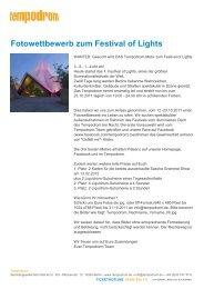 Fotowettbewerb zum Festival of Lights - Tempodrom