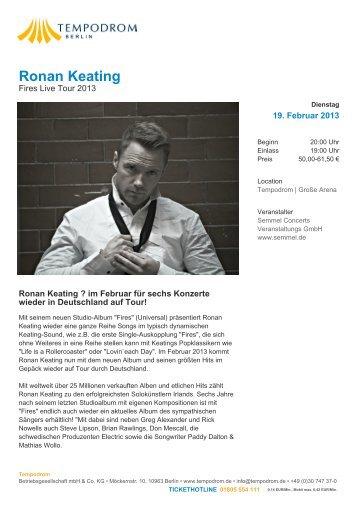 Ronan Keating - Tempodrom