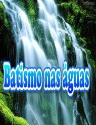 livro do batismo nas águas
