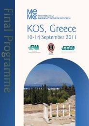 final programmE - The Sixth Mediterranean Emergency Medicine ...