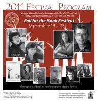 2011 FESTIVAL PROGRAM - Fall for the Book