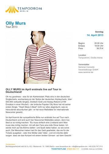 Olly Murs - Tempodrom