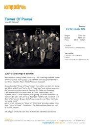 Tower Of Power - Tempodrom