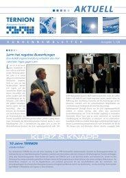 Neuer Mitarbeiter bei TERNION - TERNION Management-Systeme