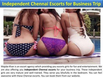 Independent Chennai Escorts for Business Trip