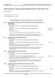 wirtschafts- und sozialwissenschaftliche fakultät - koost - Universität ...