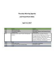 Thursday Morning Agenda and PowerPoint Slides April 13 2017