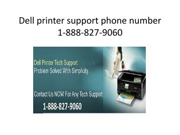 Dell printer support phone number 1-888-827-9060