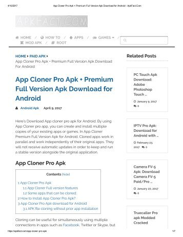 App Cloner Pro Apk + Premium Full Version Apk Download for Android - ApkFact
