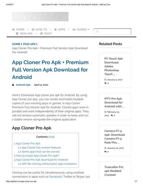Apk Cloner Pro Mod Apk