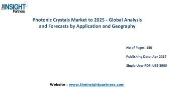 Photonic Crystals Industry Share, Size, Growth & Forecast 2025 |The Insight Partners