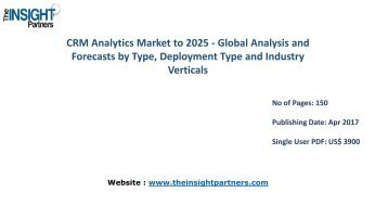 CRM Analytics Industry - Global Industry Analysis, Size, Share, Growth, Trends and Forecast 2025
