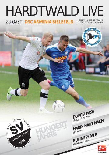 Hardtwald Live, Nr. 15, 16/17, SVS - Arminia Bielefeld