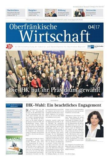 Oberfränkische Wirtschaft Ausgabe 04.2017