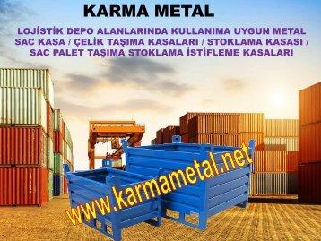 Metal Kasa Guvenlik ve istifleme ekipmanlari imalati sandik palet-KARMA METAL