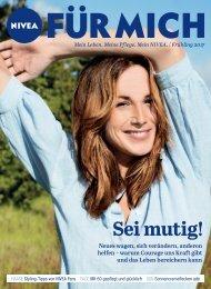 NIVEA FUR MICH - Magazin - Sei mutig - 2017 Fruhling