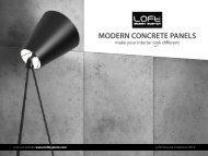 LOFT ConcreteWalls Betonoptik Wandverkleidungen