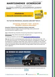 Postwurf April 2017 / Marktgemeinde Leobersdorf