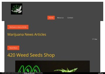 Weed seeds shop @ Jimdo