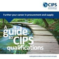 A guide to CIPS qualifications