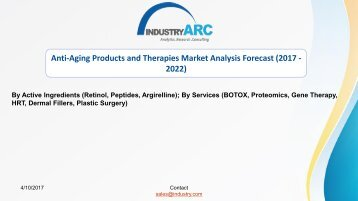 Anti-Aging Products and Therapies Market | IndustryARC