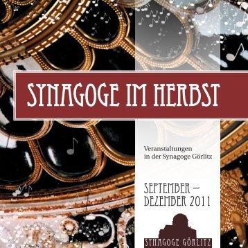 Konzert - Synagoge Görlitz – Förderkreis Görlitzer Synagoge eV