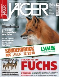 Zeitschrift für das Jagdrevier - LVM Versicherung