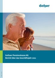 Gothaer Pensionskasse AG - Gothaer Versicherungen