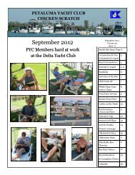 September 2012 - Petaluma Yacht Club