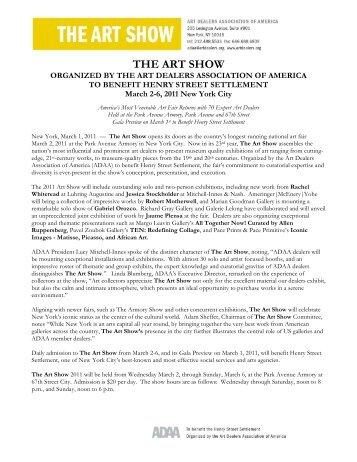 The Art Show 2011 - James Goodman Gallery