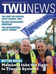 TWU News autumn 2017
