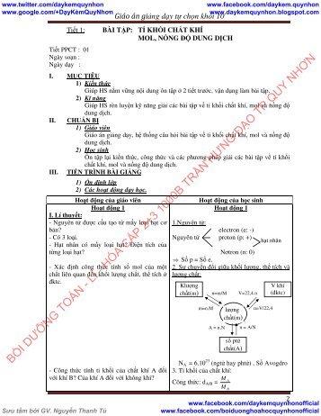 Giáo án lớp 10 môn Hóa tự chọn HK1, có đề kiểm tra & Bài tập và lý thuyết Hóa 11 đầy đủ
