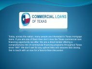 Commercial Mortgage Texas